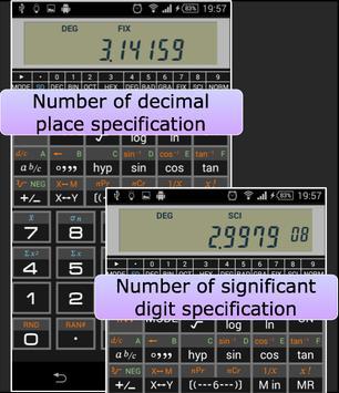 Scientific Calculator 995 تصوير الشاشة 3