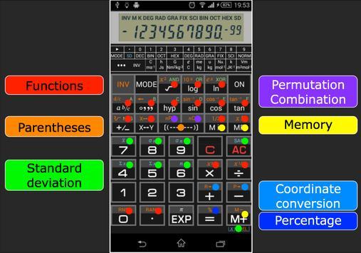 Scientific Calculator 995 تصوير الشاشة 4
