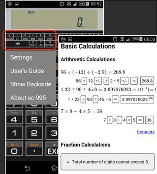 Scientific Calculator 995 تصوير الشاشة 5