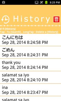 Tagalog Japanese Dictionary apk screenshot