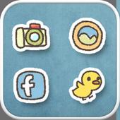 Duck ski icon theme icon