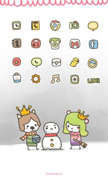 Moong Mong(Snowman) icon theme poster