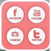 Strawberry milk icon theme icon