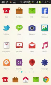 Paper icon theme poster