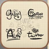 Notes style Icon theme icon