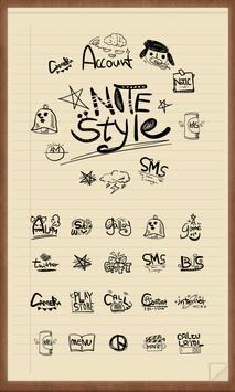 Notes style Icon theme poster
