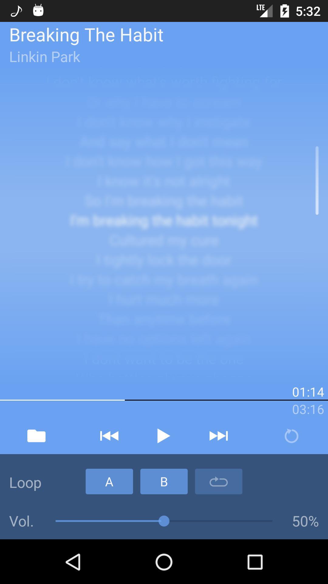 LRC Lyrics Player cho Android - Tải về APK