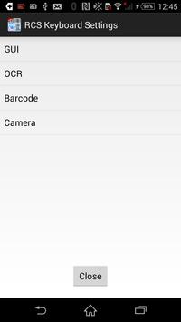 RCS Barcode/OCR Keyboard(Free) apk screenshot