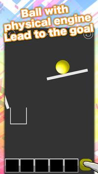 意外とハマる 物理パズルゲーム ボールをゴールへドーン 無料で簡単な脳トレやひまつぶし スクリーンショット 1