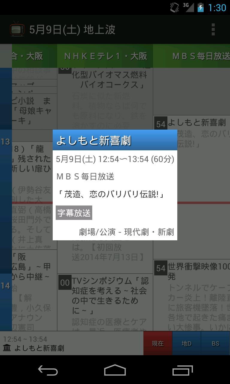 表 bs 大阪 番組 テレビ