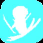Ski jump jump icon
