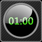 Clock Carbon-style design icon