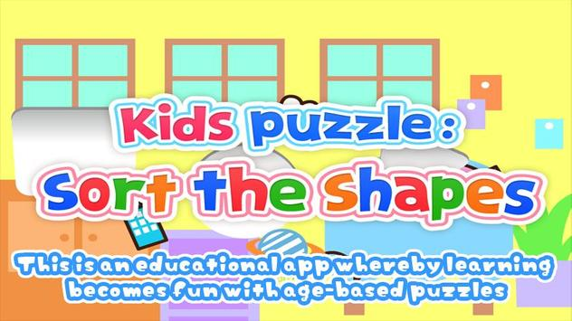 Kids Puzzle:Sort The Shapes 2+ poster