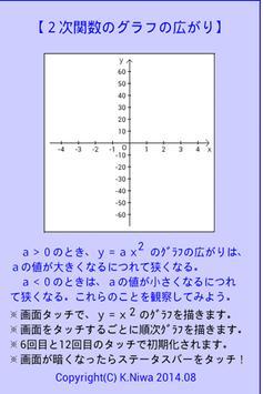 2次関数のグラフの広がり poster
