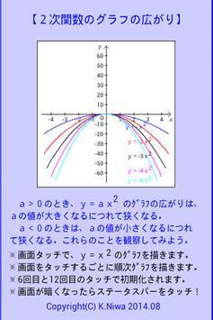 2次関数のグラフの広がり screenshot 1