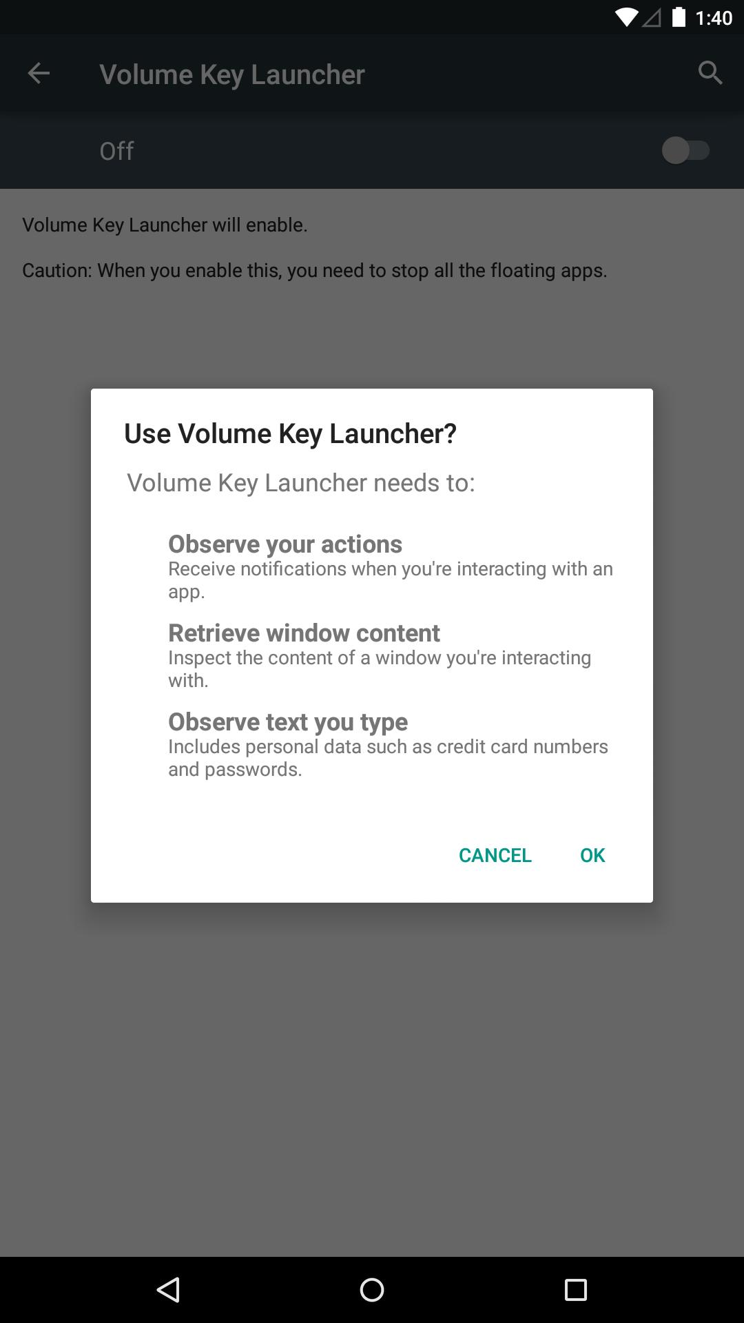 Volume Key Apk