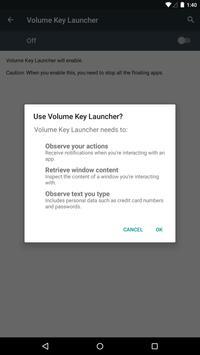 Volume Key Launcher syot layar 23