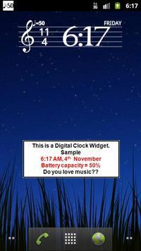 Musical Clock Widget poster