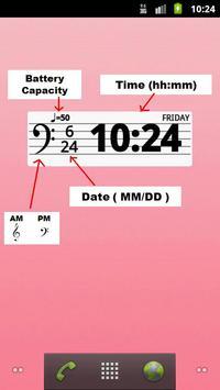 Musical Clock Widget apk screenshot