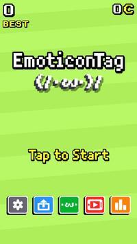 Emoticon Tag! Ψ( `▽´)Ψミ(/・ω・)/ poster