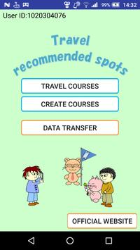Travel recommended spots poster