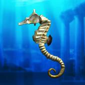 Seahorse simulation game icon