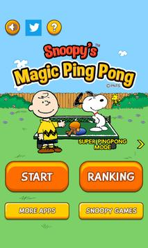 Snoopy's Magic Ping Pong poster