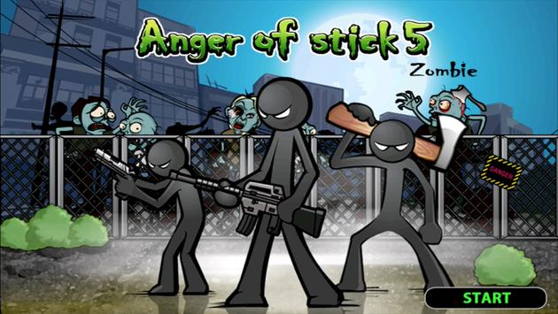 Anger of stick 5 : zombie poster