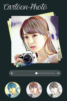 Cartoon photo  filter effect poster