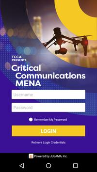 Critical Communications MENA poster