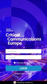 Critical Communications Europe poster