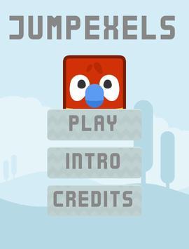Jumpexels: Jump pixels poster