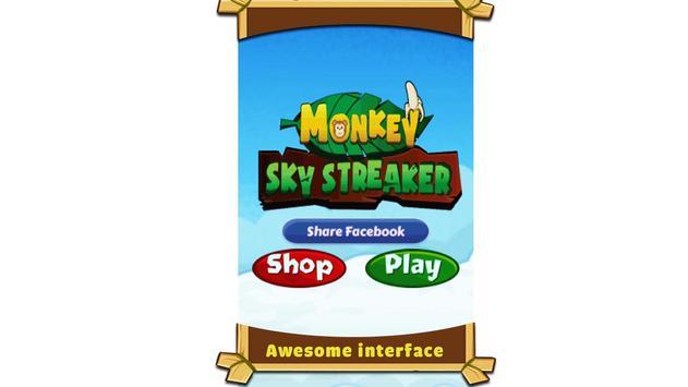 Monkey Sky - love banana poster