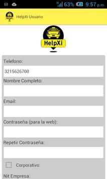 Helpxi Usuario - Taxi App screenshot 3