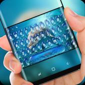 Dolphin in Blue Ocean Keyboard Water Drop icon