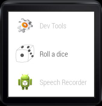 Roll a dice(Android wear) poster