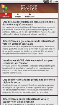 Ecuador Decide poster