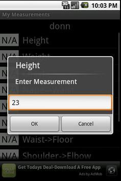 MyMeasurements apk screenshot