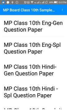 Class 10th Madhya Pradesh sample papers In Hindi poster