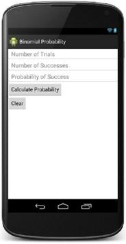 Binomial Prob Calculator apk screenshot