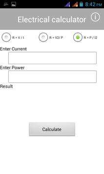 Electrical Calculator screenshot 3
