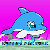Cute Whale Swimming icon