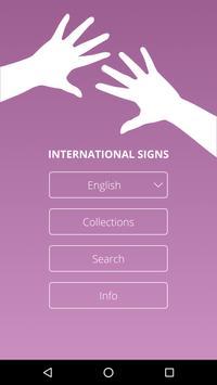 International Signs poster