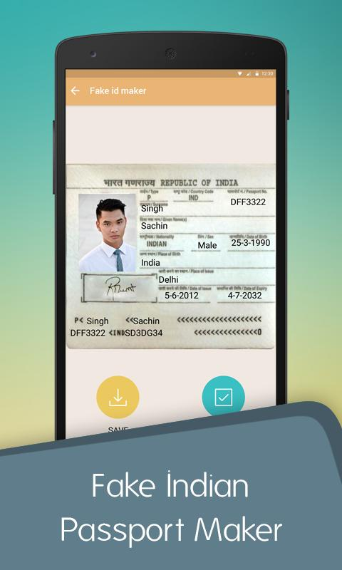 Fake Indian Passport ID Maker for Android - APK Download