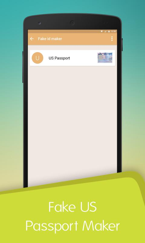 Fake US Passport ID Maker for Android - APK Download