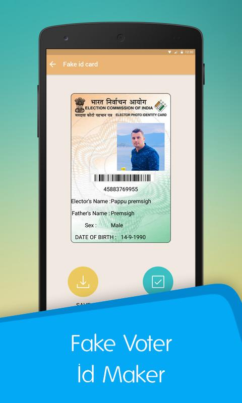 Fake Voter ID Card Maker for Android - APK Download