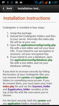 Codeigniter Tutorial apk screenshot