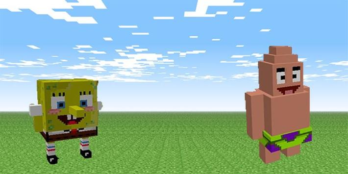 Spongebob mod for minecraft pe poster