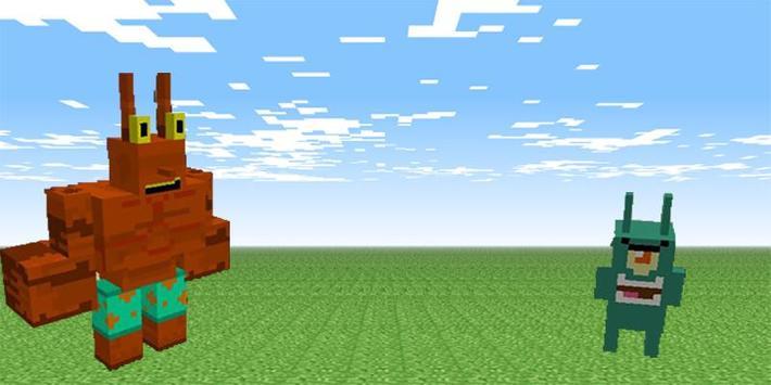 Spongebob mod for minecraft pe apk screenshot