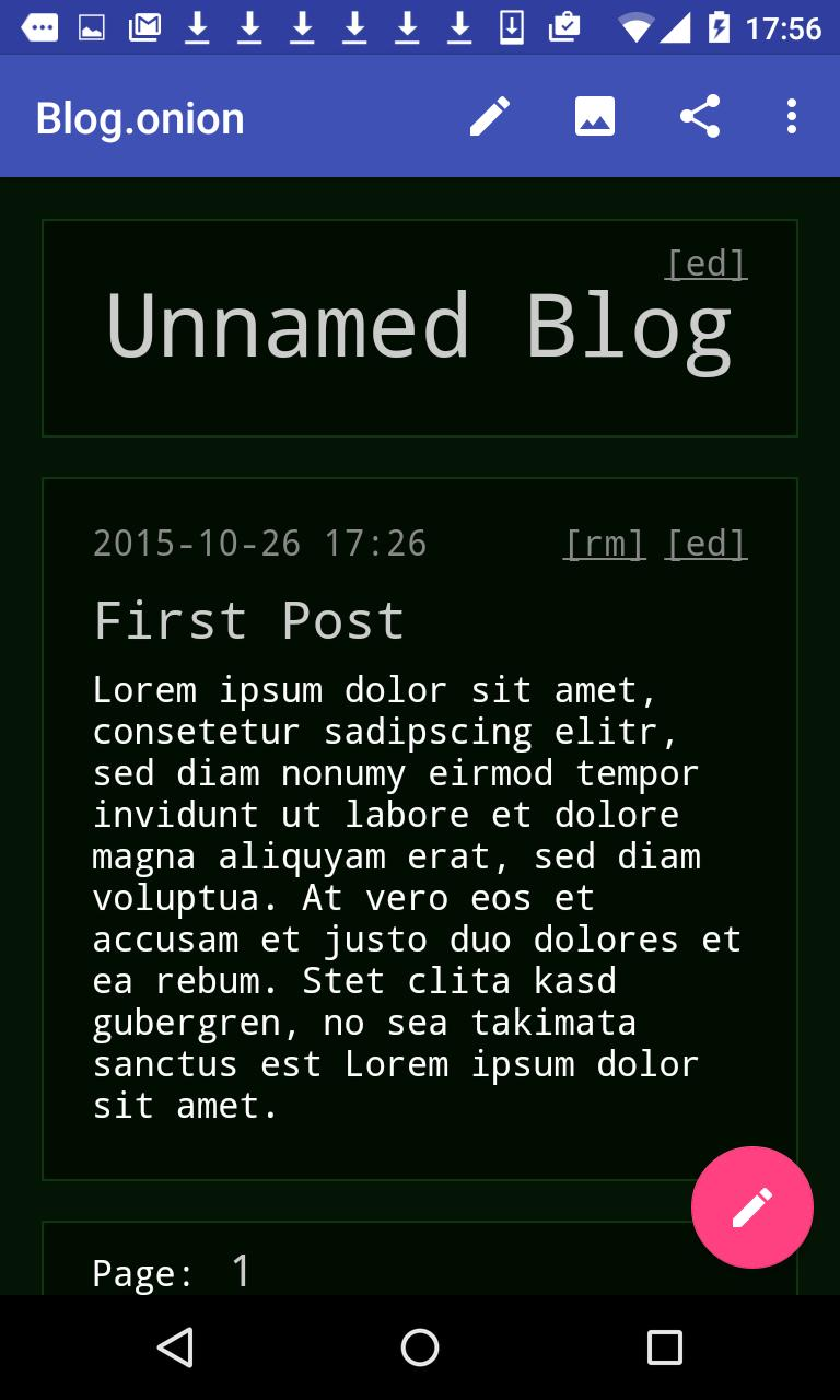 Blog onion for Android - APK Download